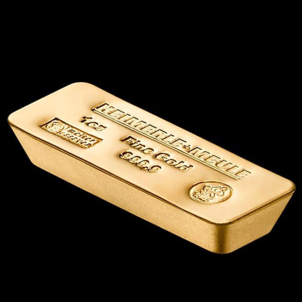 Gold Bar In Fine Web